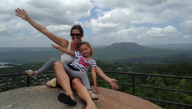 Azalea & I enoying the view from the top of Fortaleza De Coyotepe