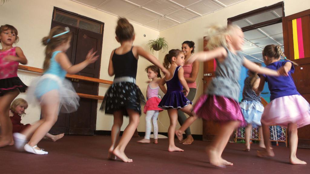 Kids having fun at dance class