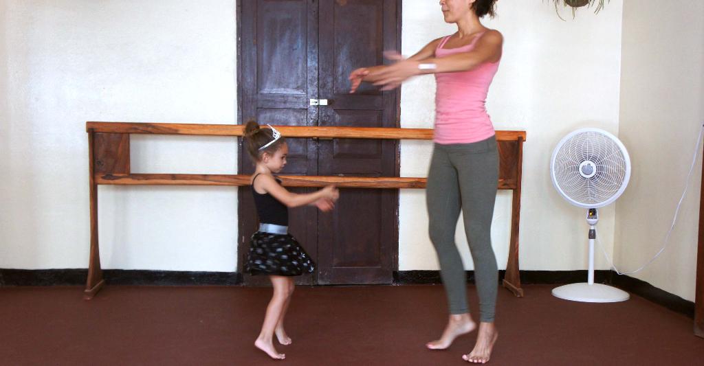 Azalea with her teacher at SJDS School of Dance