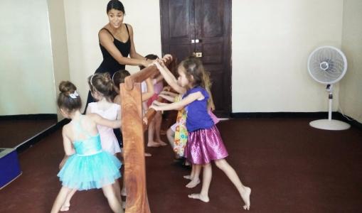 The dance studio got their mirrors & ballet bar