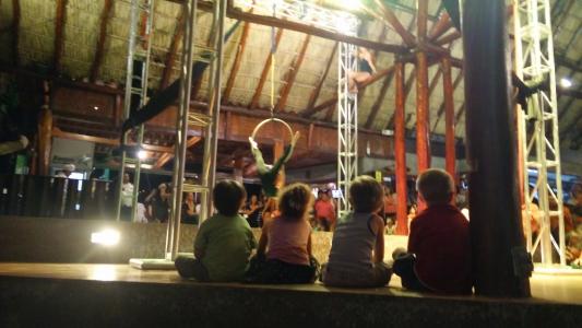 Gringo circus at El Timon restaurant on the beach