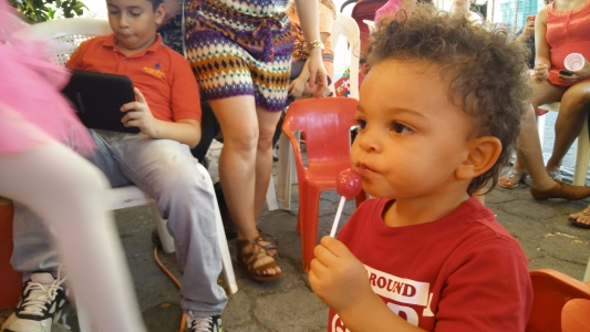 Titus enjoying his lollypop