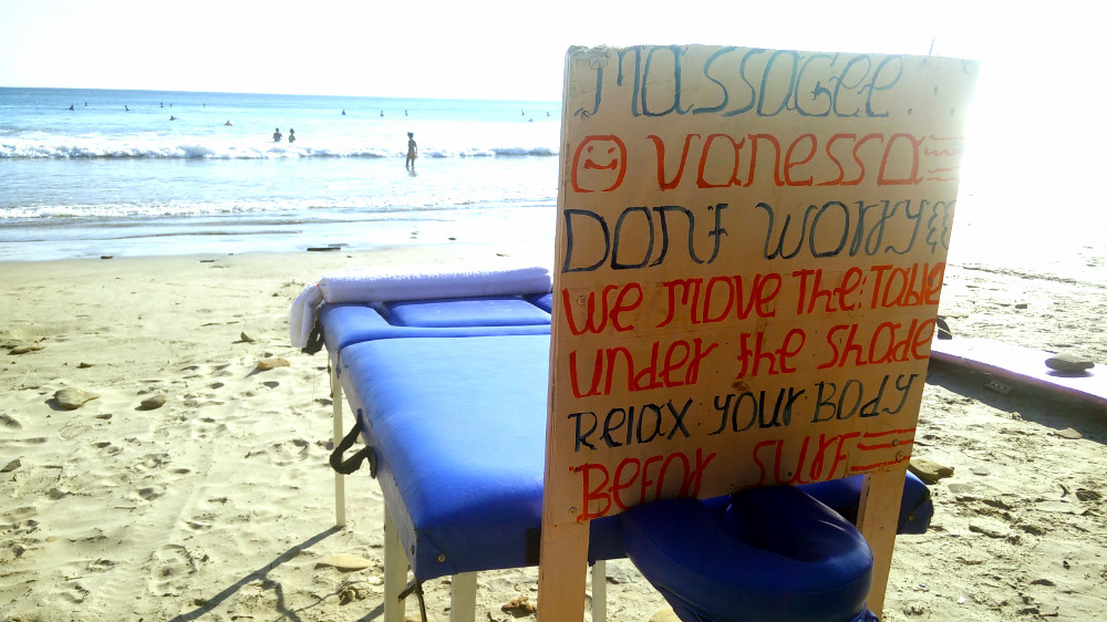 Yep, my town has massages on the beach