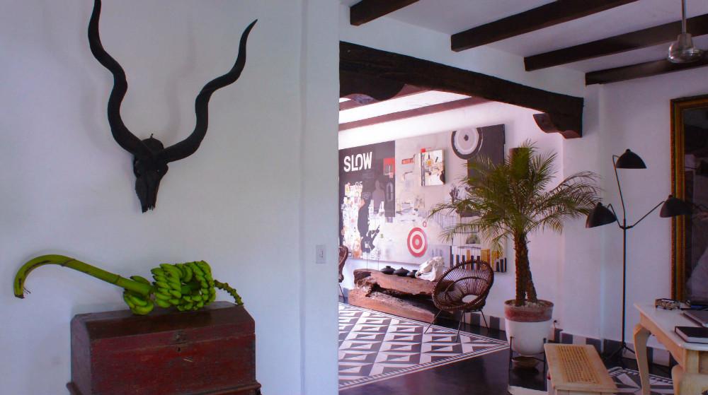 Beautiful hotel lobby of Tribal in Granada