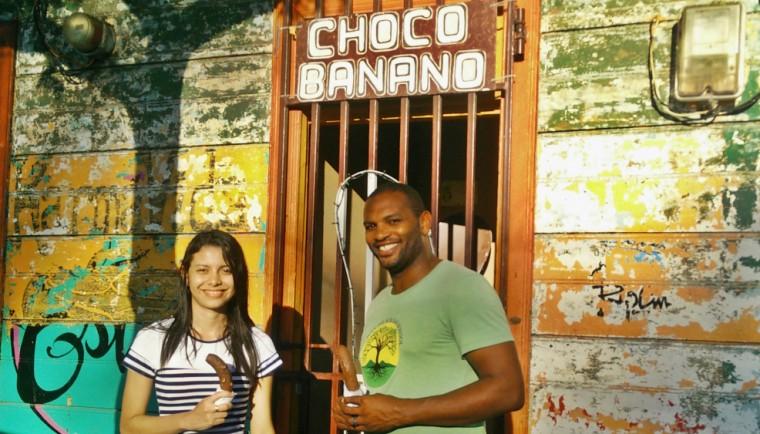Dayana and Kharron with Choco Banana