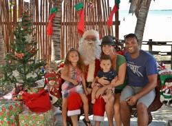 Reid Family & Santa 2015